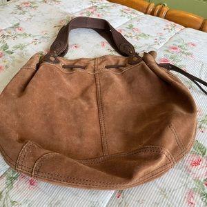 Suede Brown Handbag, Lucky Brand